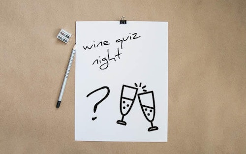 Wine quiz night image